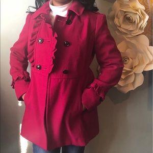 Magenta Pink Pea Coat 💓